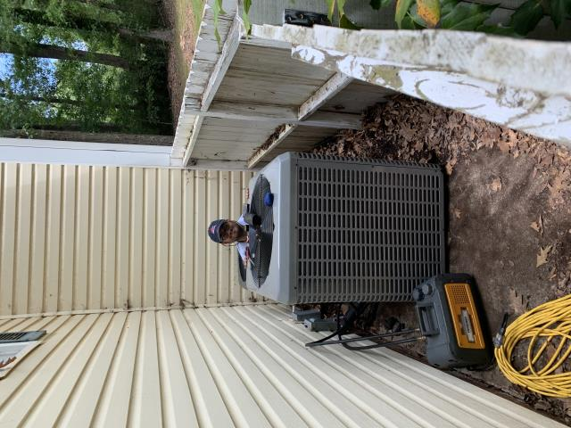 Spartanburg, SC - We had a Heat Pump Installation in Spartanburg SC recently. Nathan having a bit of fun trying to hide from me. A new Heat Pump sure makes a difference.