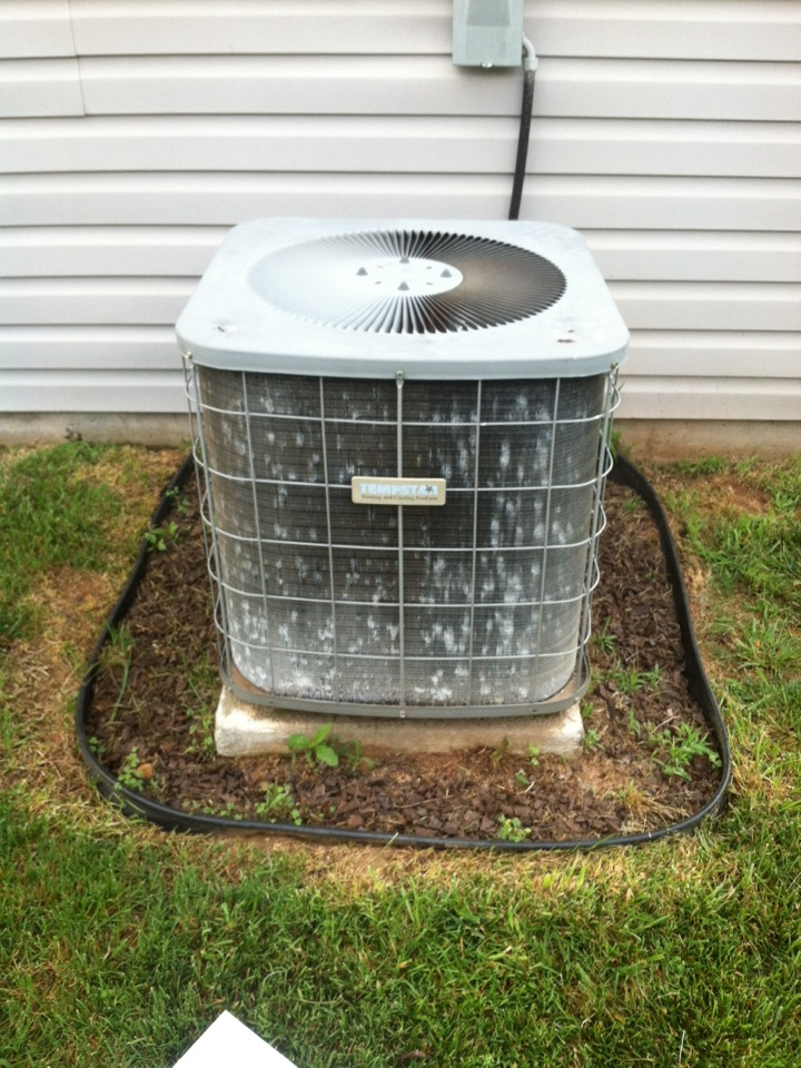 Inman, SC - Tempstar air conditioner not cooling. Bad capacitor. Condenser coils also need cleaning. Has high head pressure.