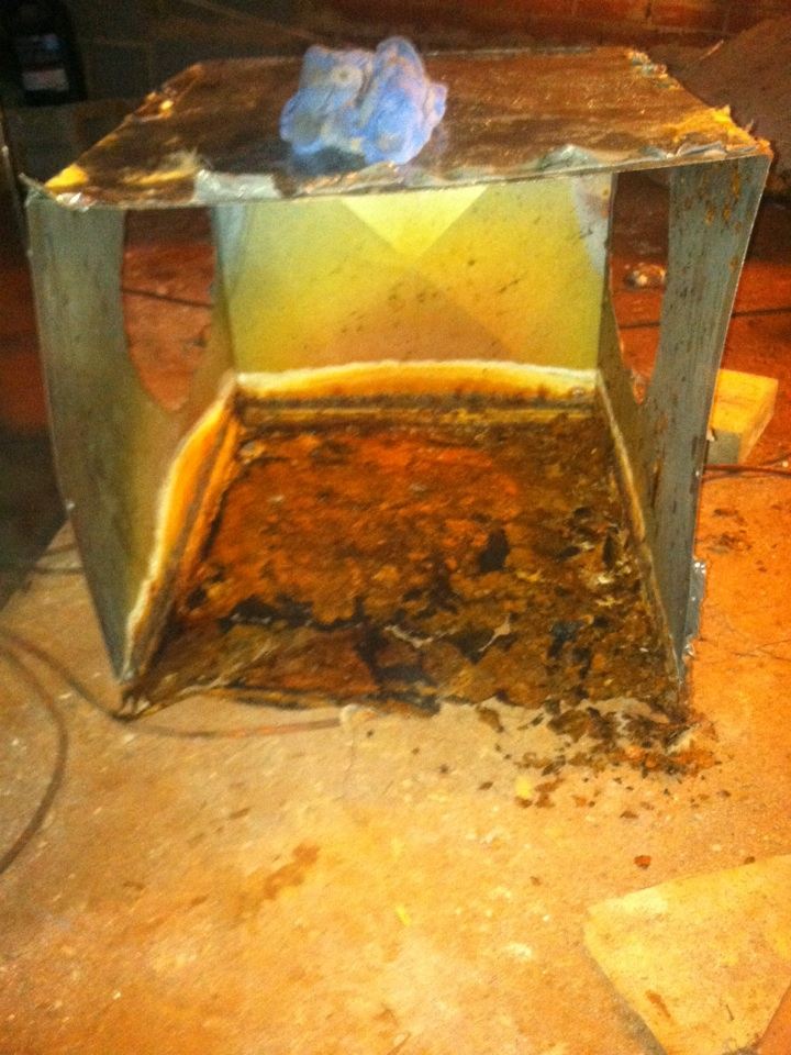 Boiling Springs, SC - Replacing rusted out plenum. Direct result of unit not level.