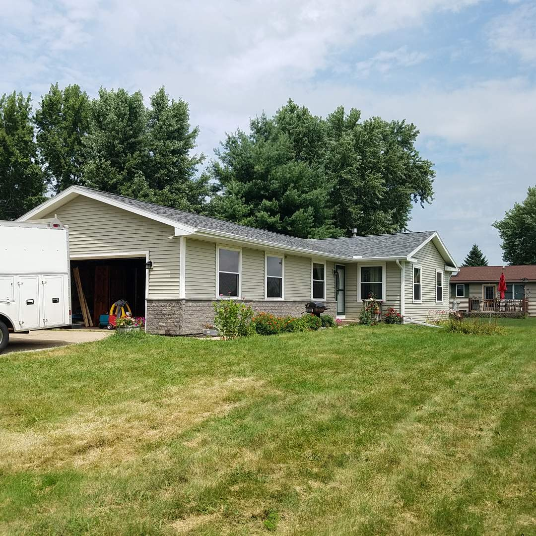 Elkhorn, WI - Another happy customer. Siding, soffit, fascia, and gutters