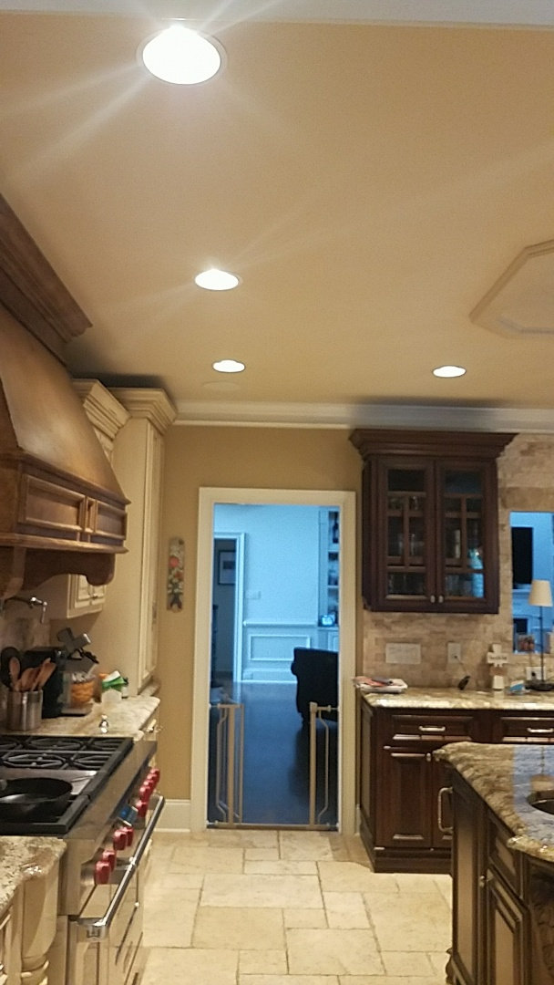 Alpharetta, GA - Troubleshoot Faulty Dimmer. Replace Dimmer. Upgrade Lightbulb in Kitchen Can to Energy Efficient LED Bulbs. Troubleshoot Exterior Circuit.