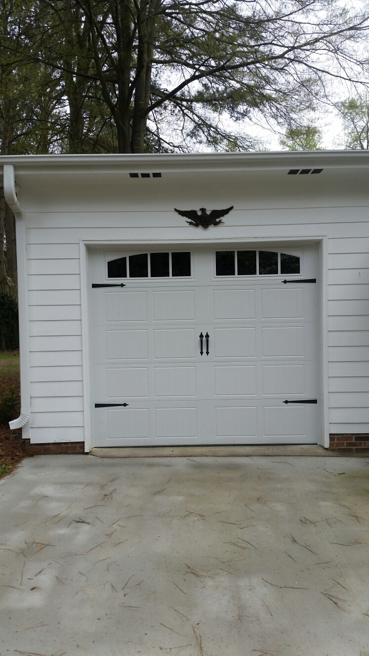 Raleigh, NC   Installing A Brand New Door Link Carriage Style Triple Layer  Insulated Garage