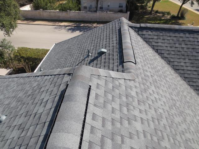 Austin, TX - Another picture of the steep roof replacement we just completed