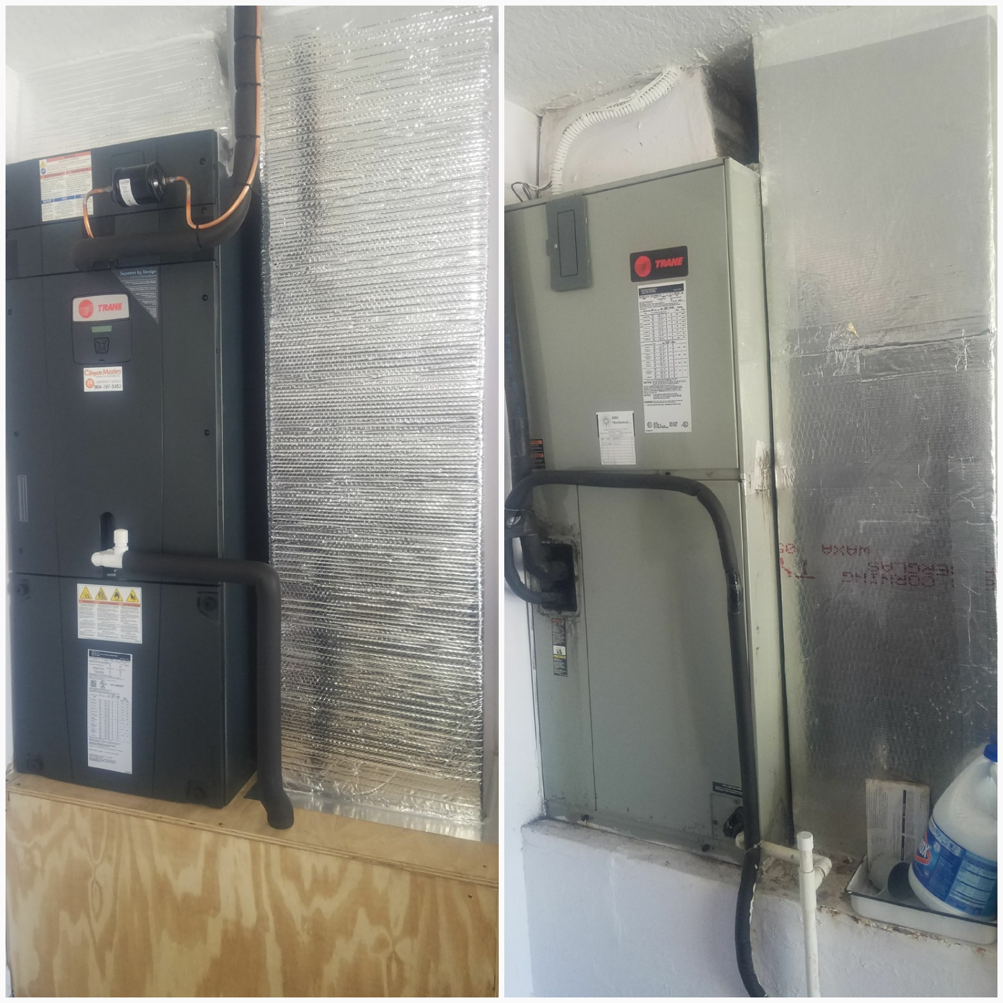 Palm Coast, FL - Changed out trane unit in garage installed trane 4 ton 18 seer xv unit with 950 tstat