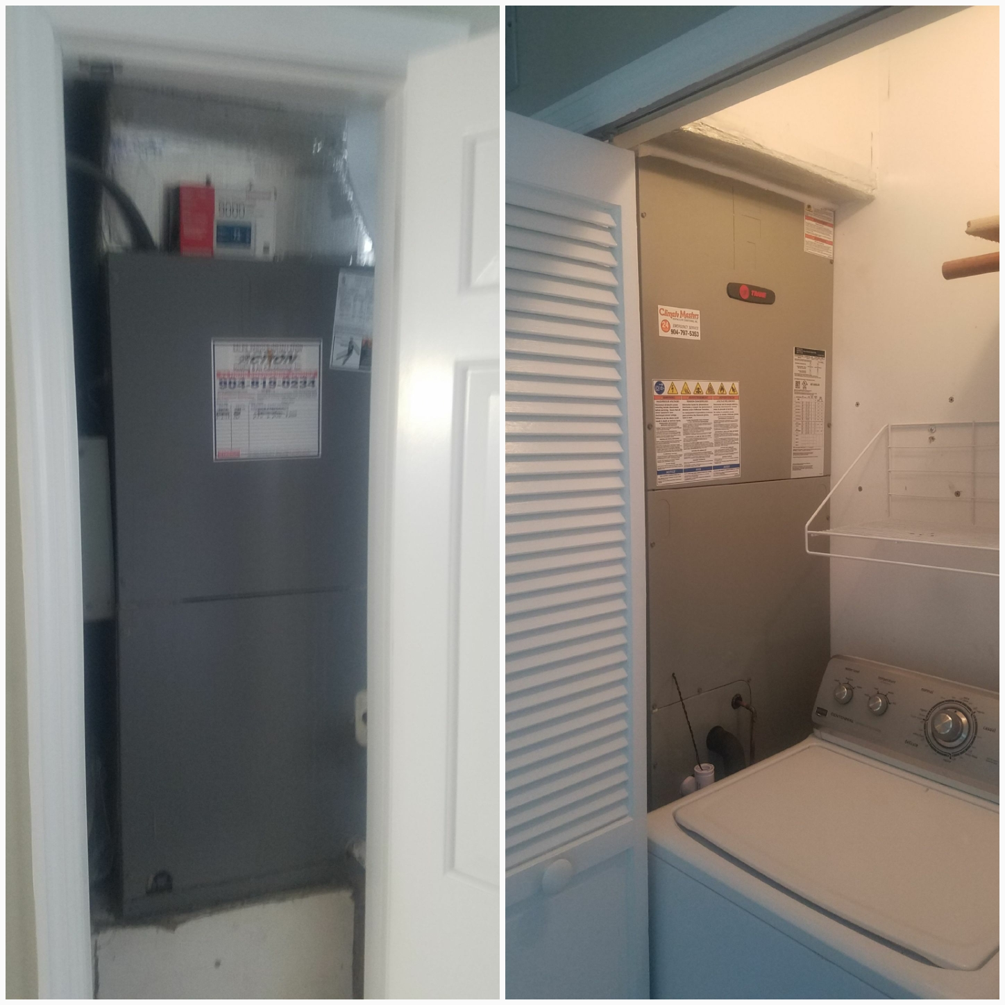 Saint Augustine, FL - Changed out unit in laundry room