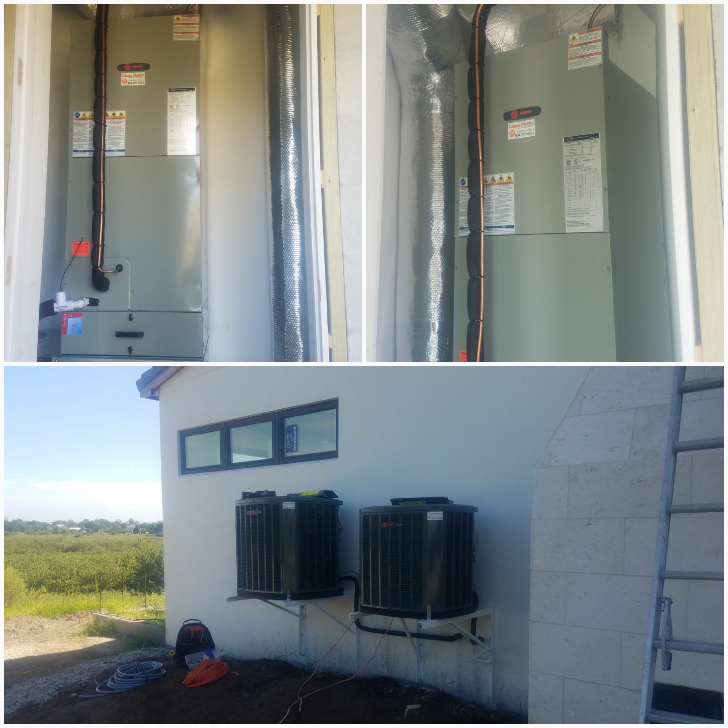 Saint Augustine, FL - Installed new trane units and condensers new construction