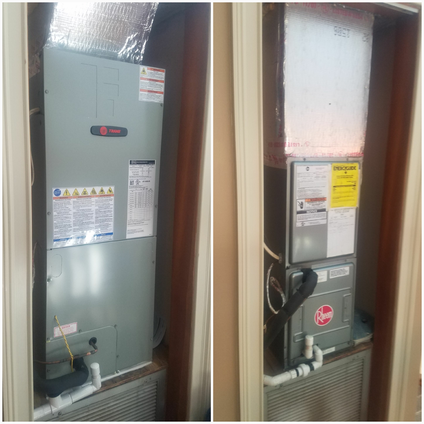 Saint Augustine, FL - Changed out rheem for a trane