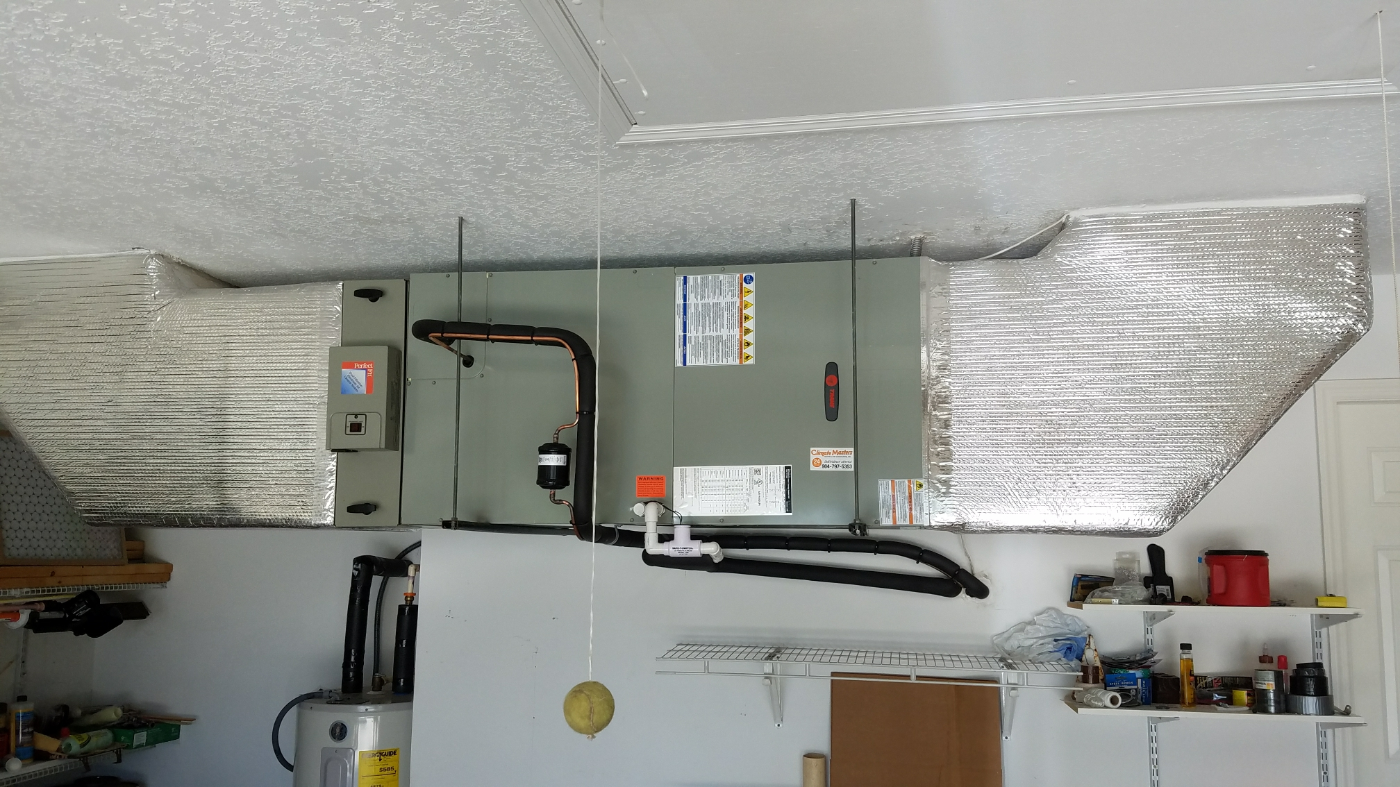 Saint Augustine, FL - Changed out trane unit in garage hanging