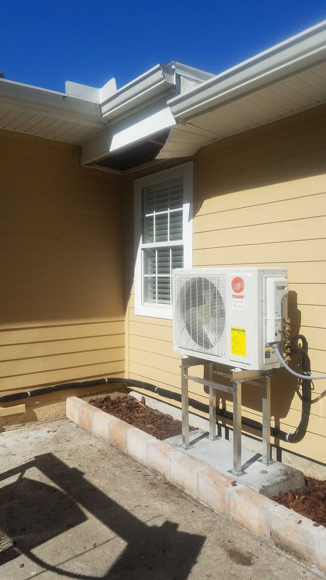 Saint Augustine, FL - Installed new trane minisplit