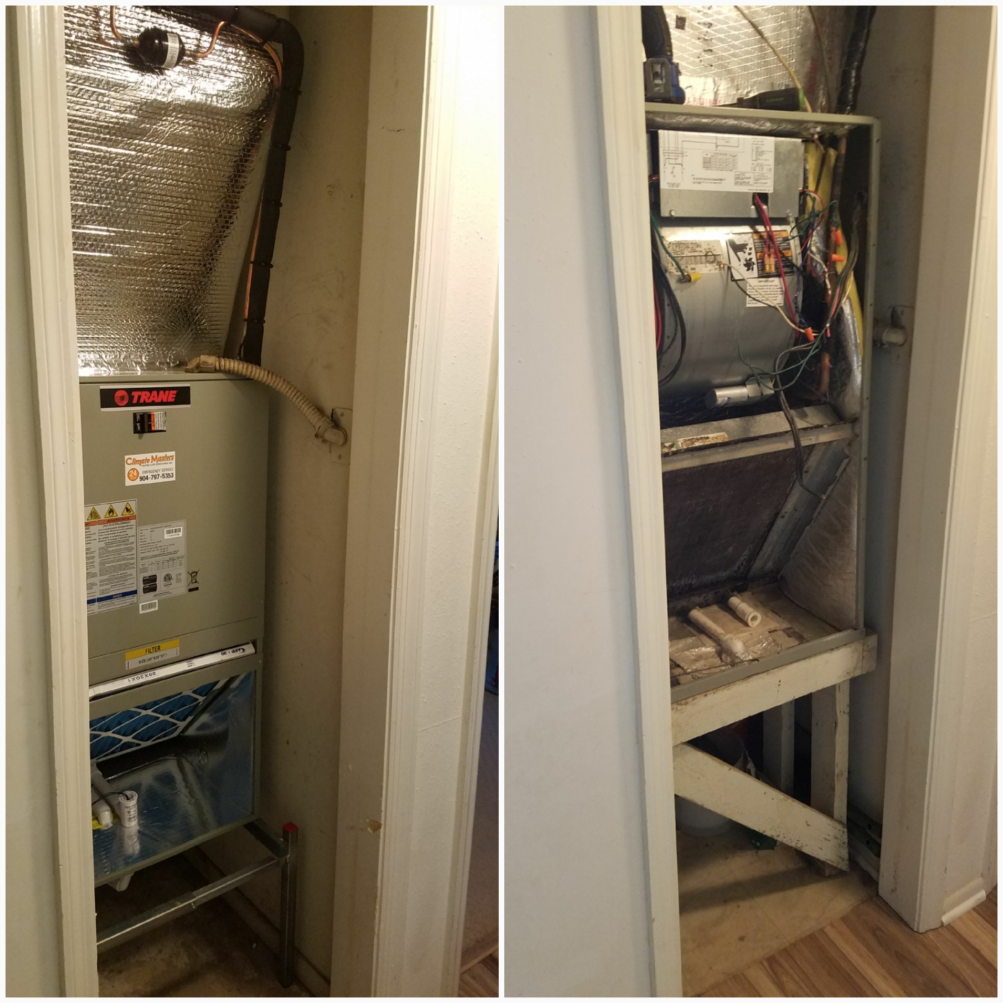 St. Augustine, FL - Changed out trane unit in closet