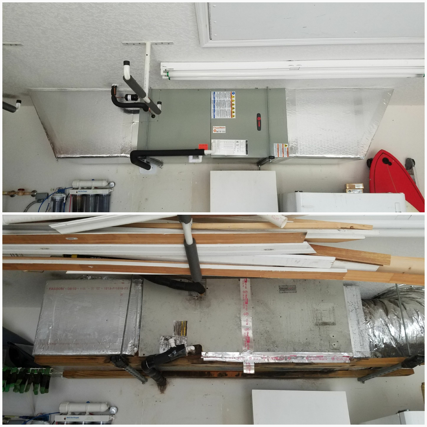 St. Augustine, FL - Changed out unit hanging in garage