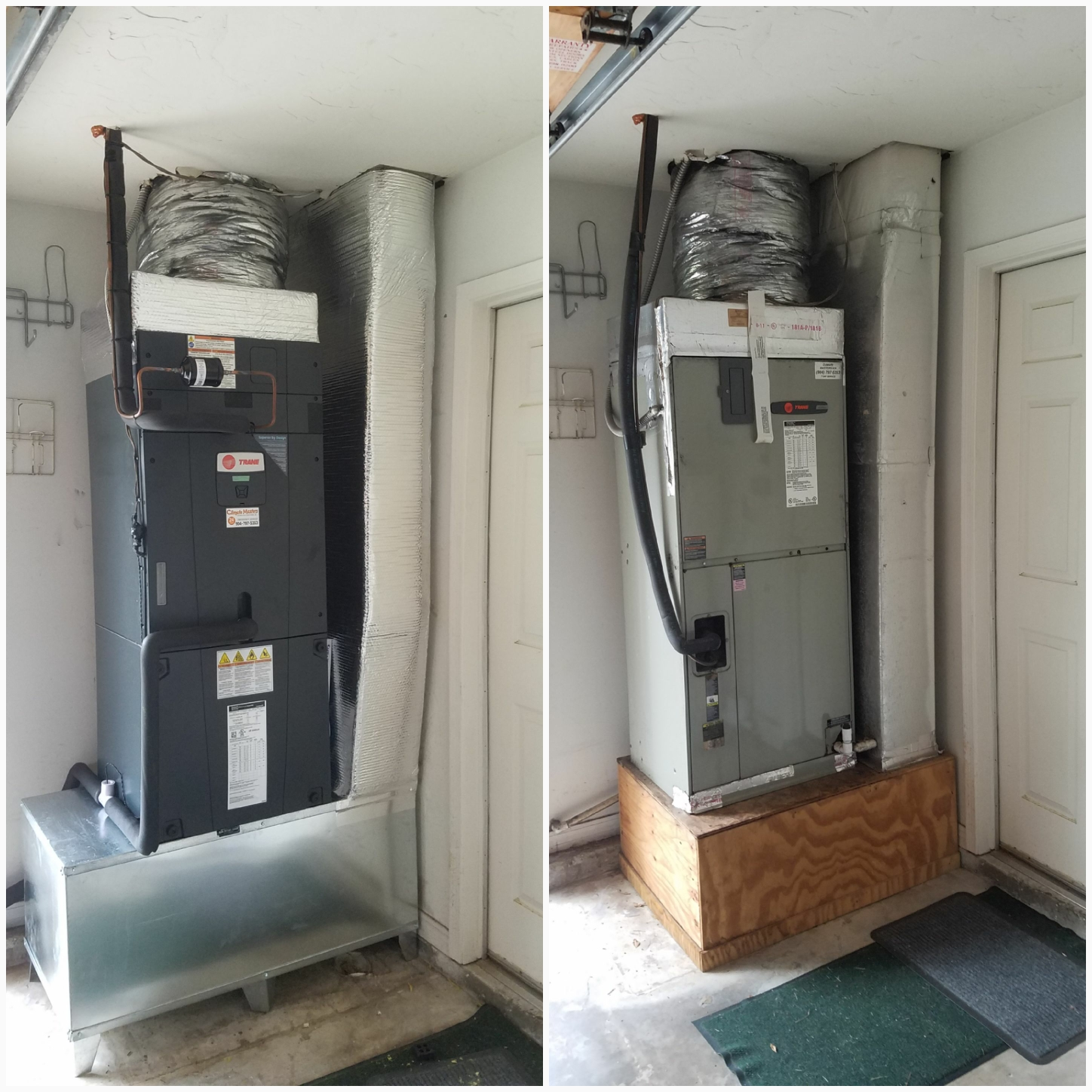 St. Augustine, FL - Changed out trane airhandler and condenser and replaced platform with metal coffin box