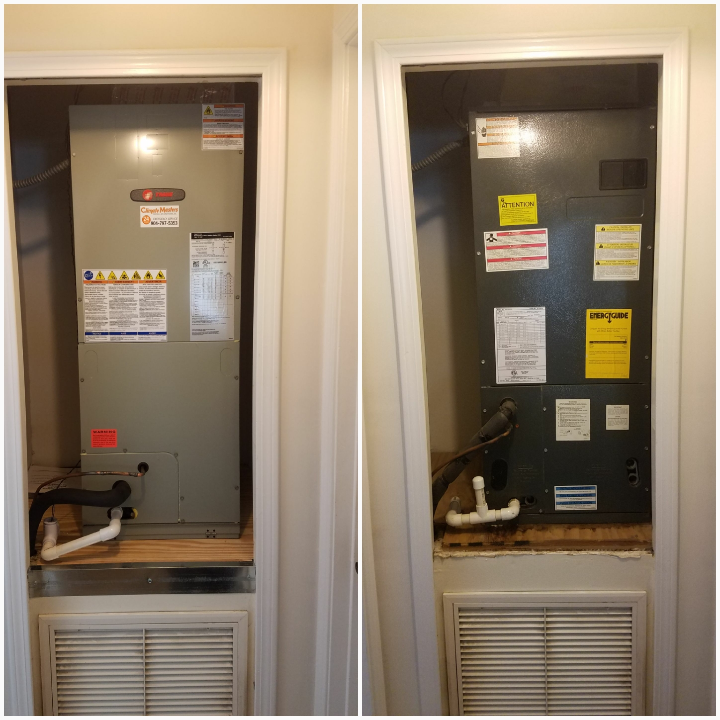 St. Augustine, FL - Changed out airhandler in closet