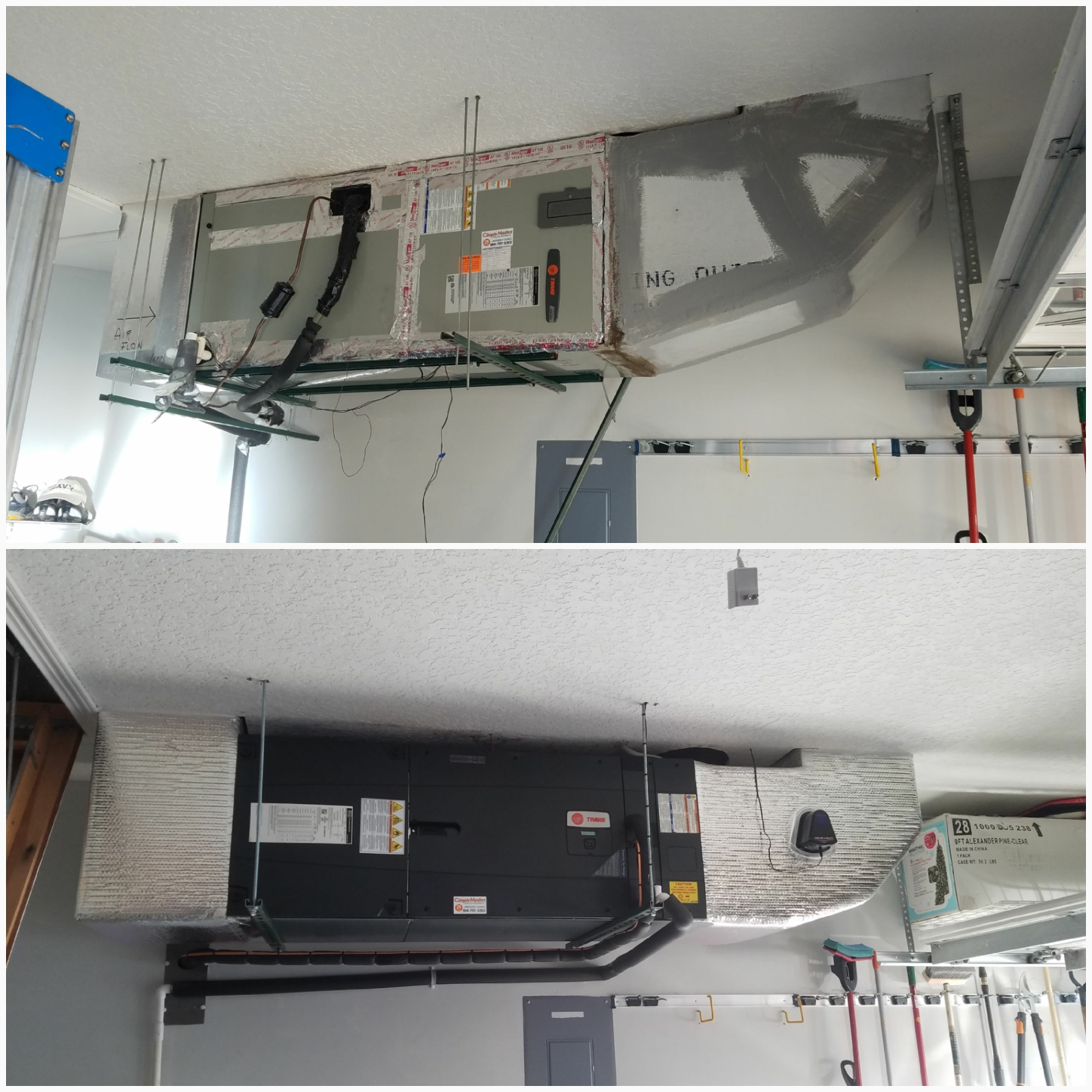 St. Augustine, FL - Changed out trane unit in garage and rewrapped ductwork