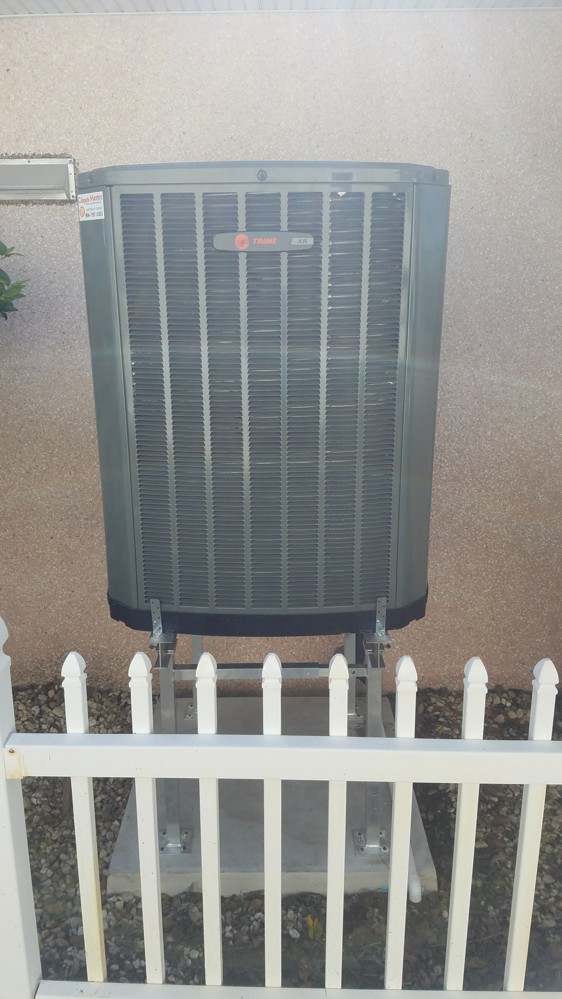 St. Augustine, FL - Changed out trane condenser plus raised it up on aluminium stand