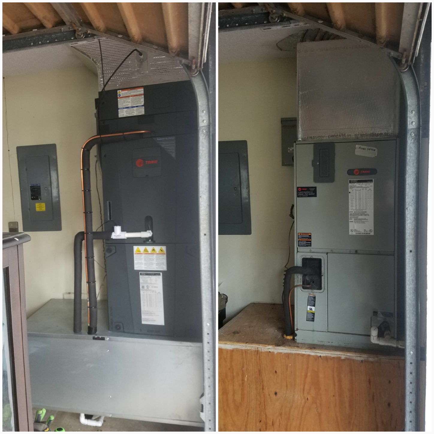 St. Augustine, FL - Changed out trane airhandler and put on metal coffin box