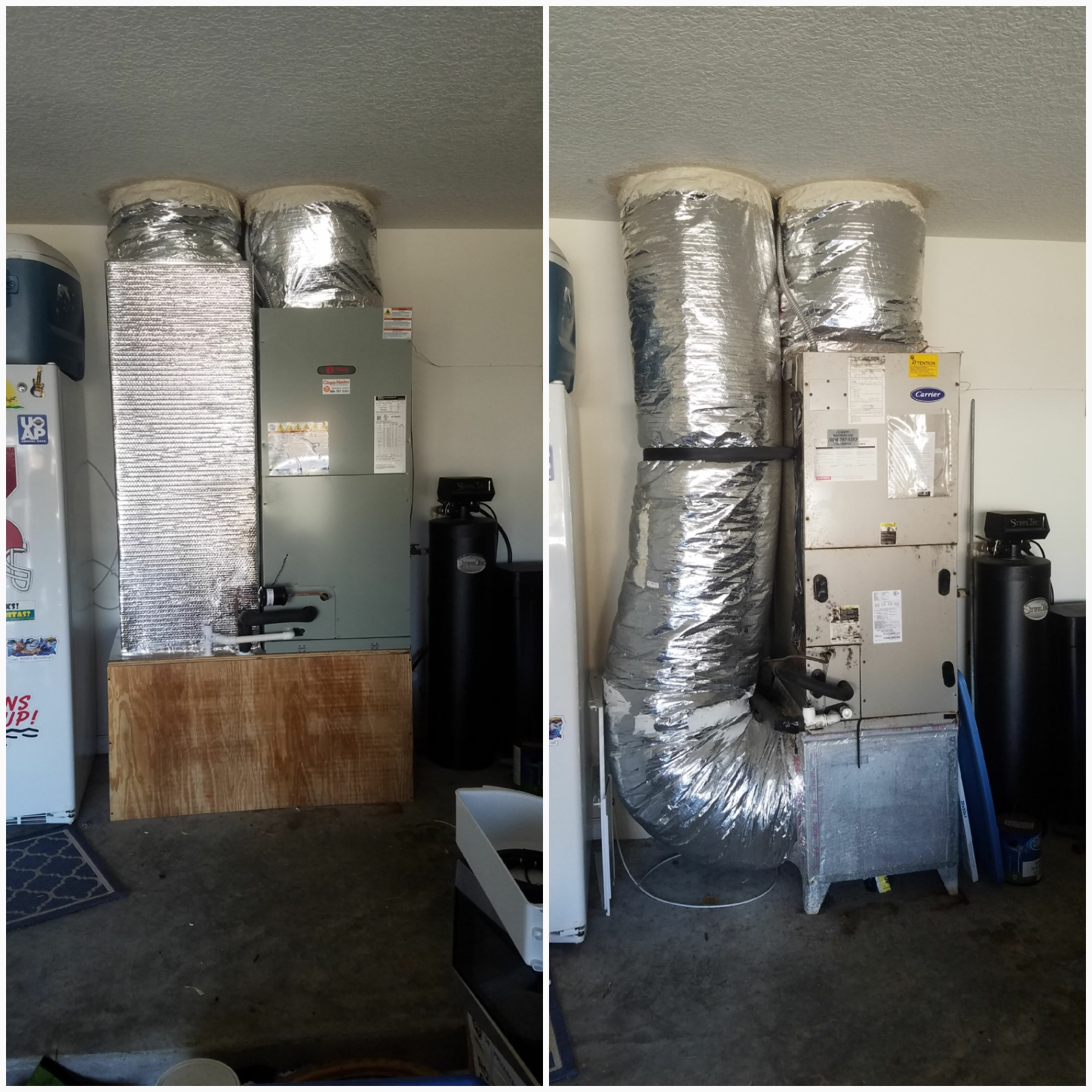 St. Augustine, FL - Changed out airhandler and rebuilt platform and rewrapped ductwork