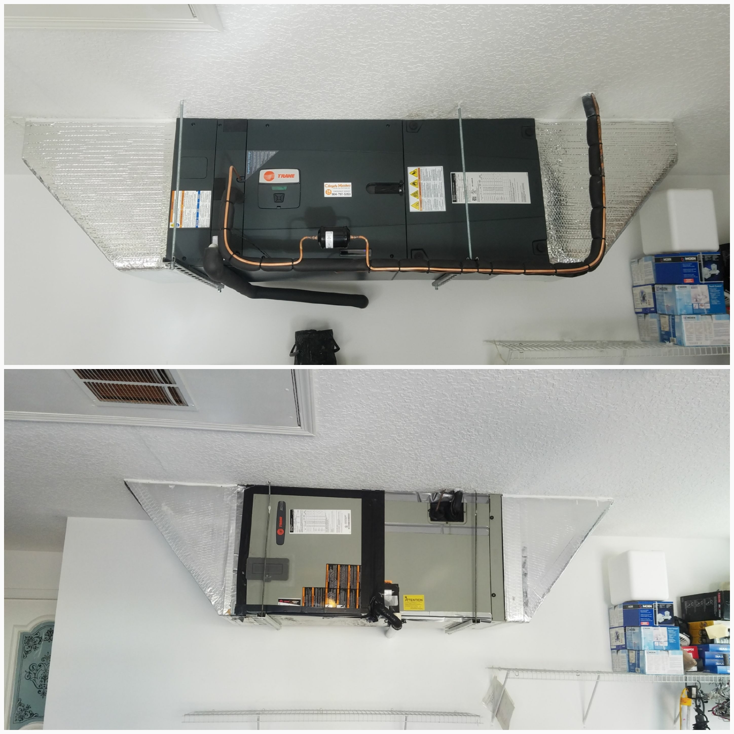 St. Augustine, FL - Changed out trane unit in garage hanging and replaced everything