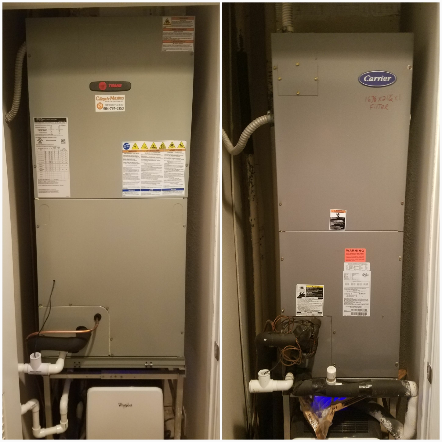 St. Augustine, FL - Changed out carrier unit for trane units
