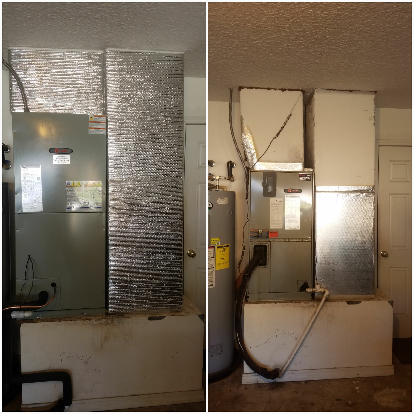Saint Augustine, FL - Changed out trane unit in garage and rewrapped ductwork