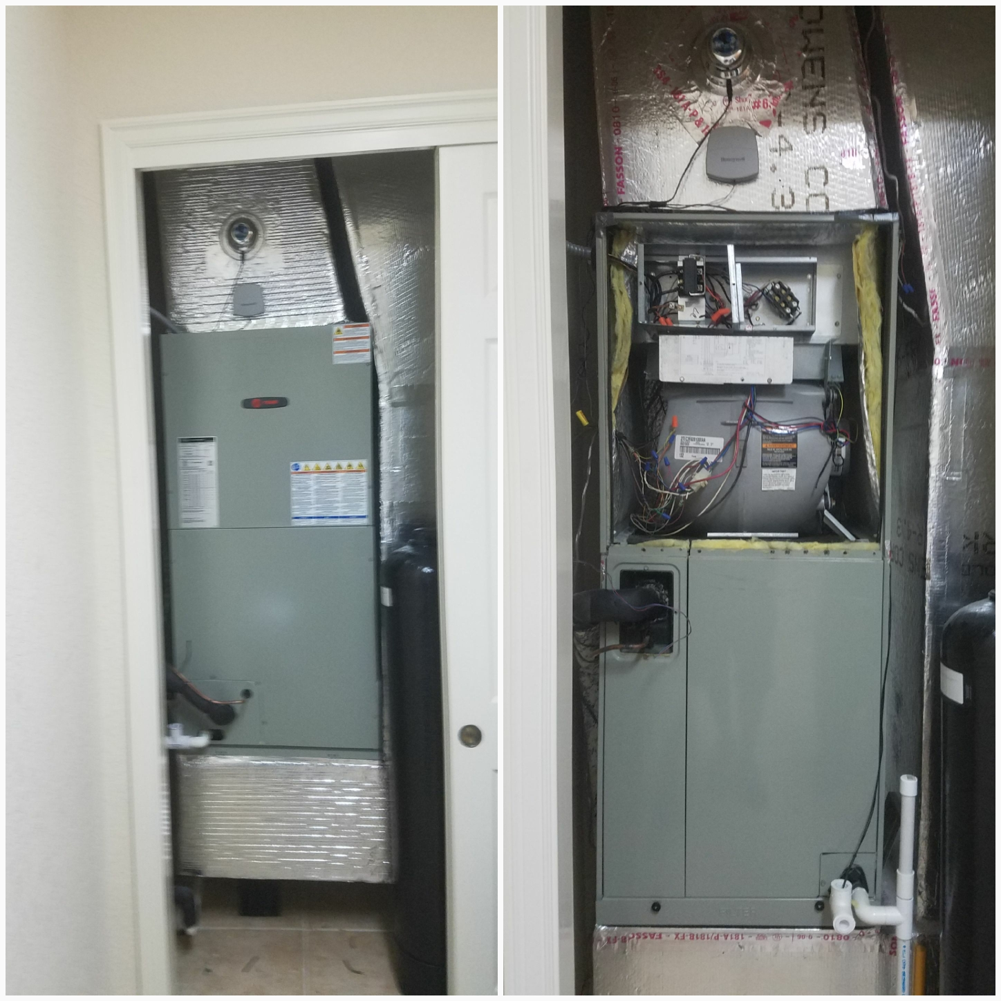Saint Augustine, FL - Changed out trane unit in closet