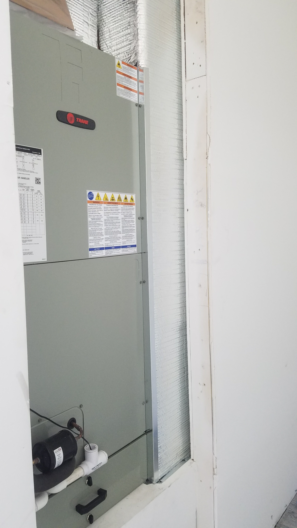 St. Augustine, FL - Installed new trane unit in closet new construction