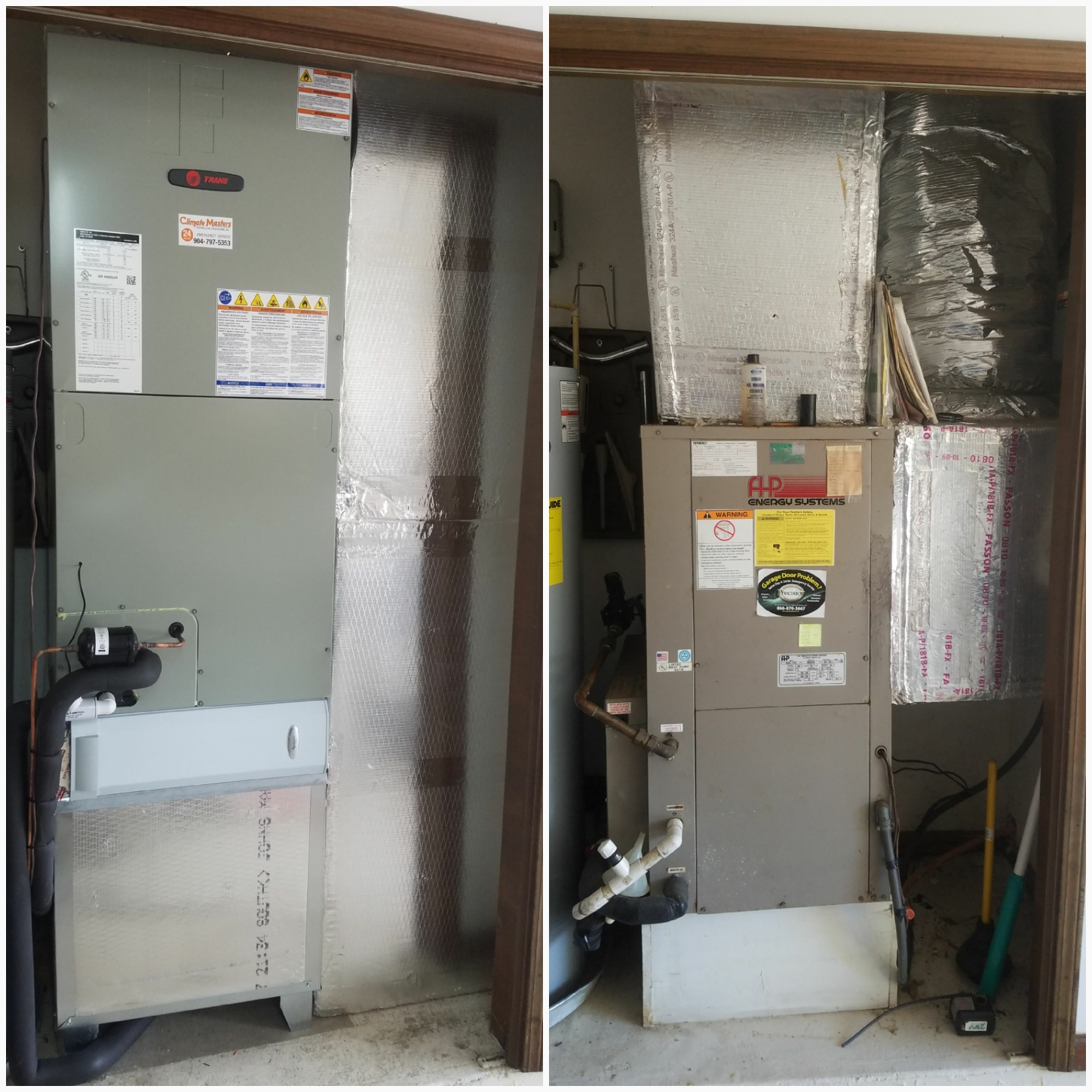 St. Augustine, FL - Took out a florida heat pump and replaced it with a split system