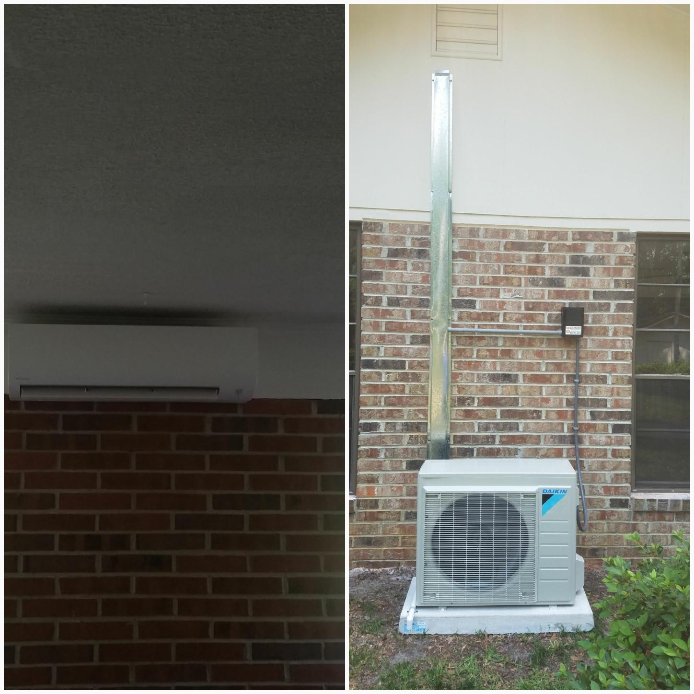 St. Augustine, FL - Installed mini split on back porch