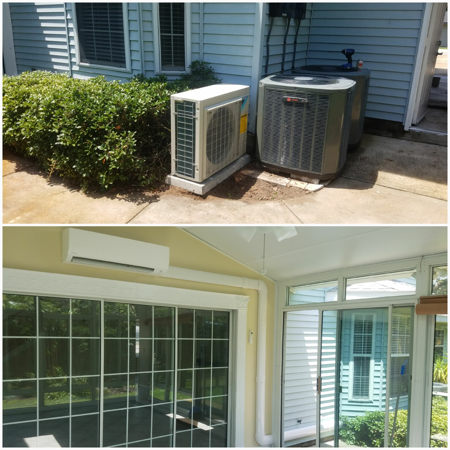 St. Augustine, FL - Installed mini split on back porch