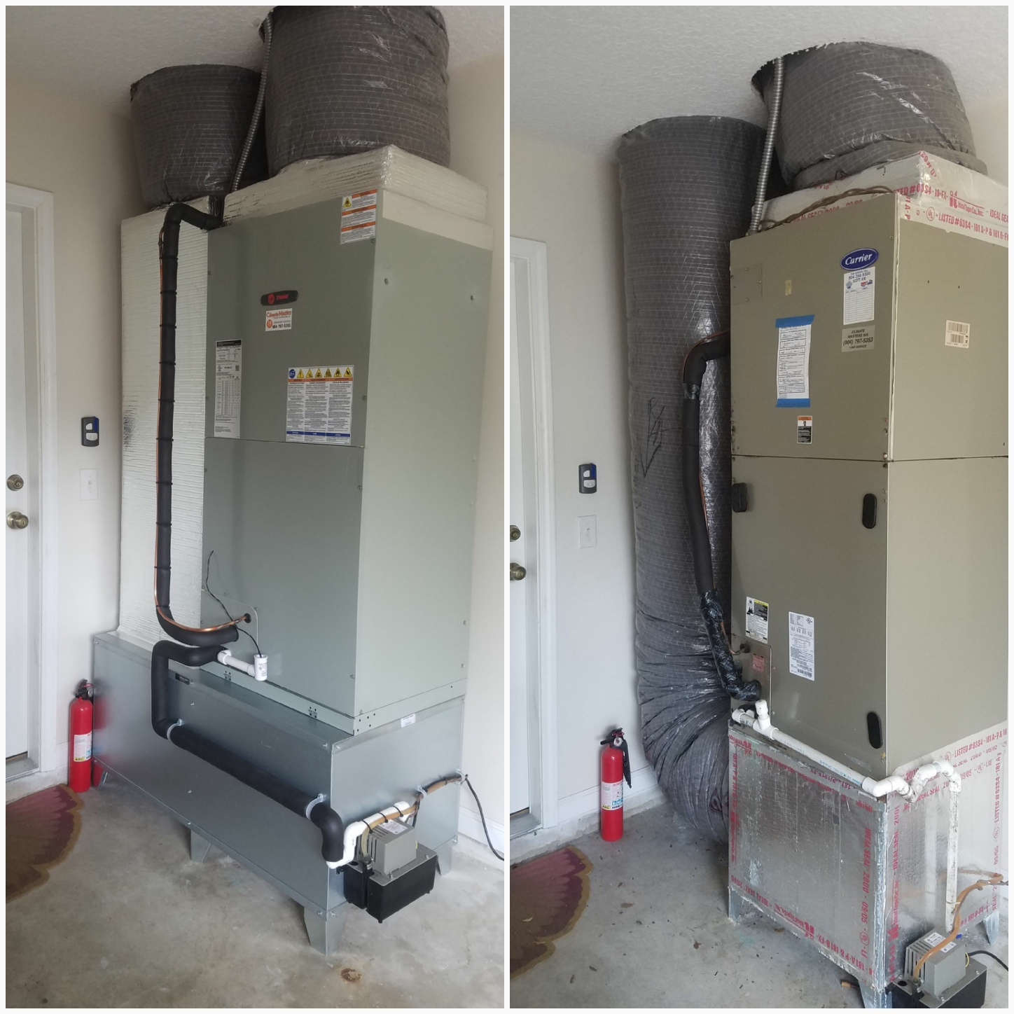 St. Augustine, FL - Changed out trane unit in garage and put on metal coffin box and duct work