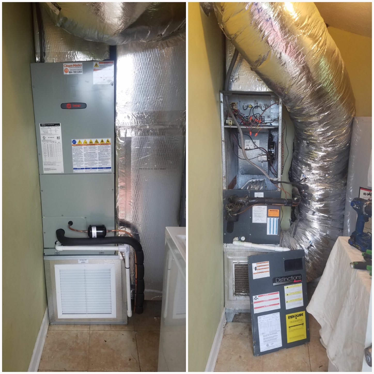 St. Augustine, FL - Changed out air handler and rebuilt ra plum