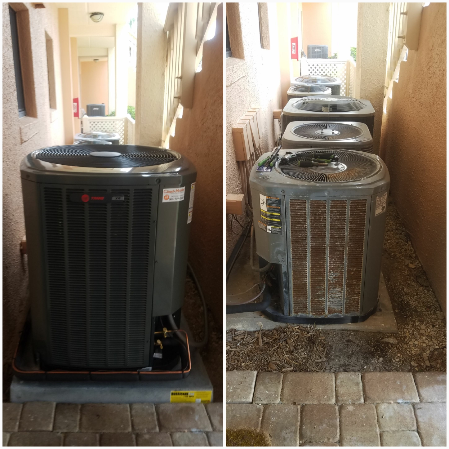 St. Augustine, FL - Changed out 12 seer condenser and put in 17 seer condenser