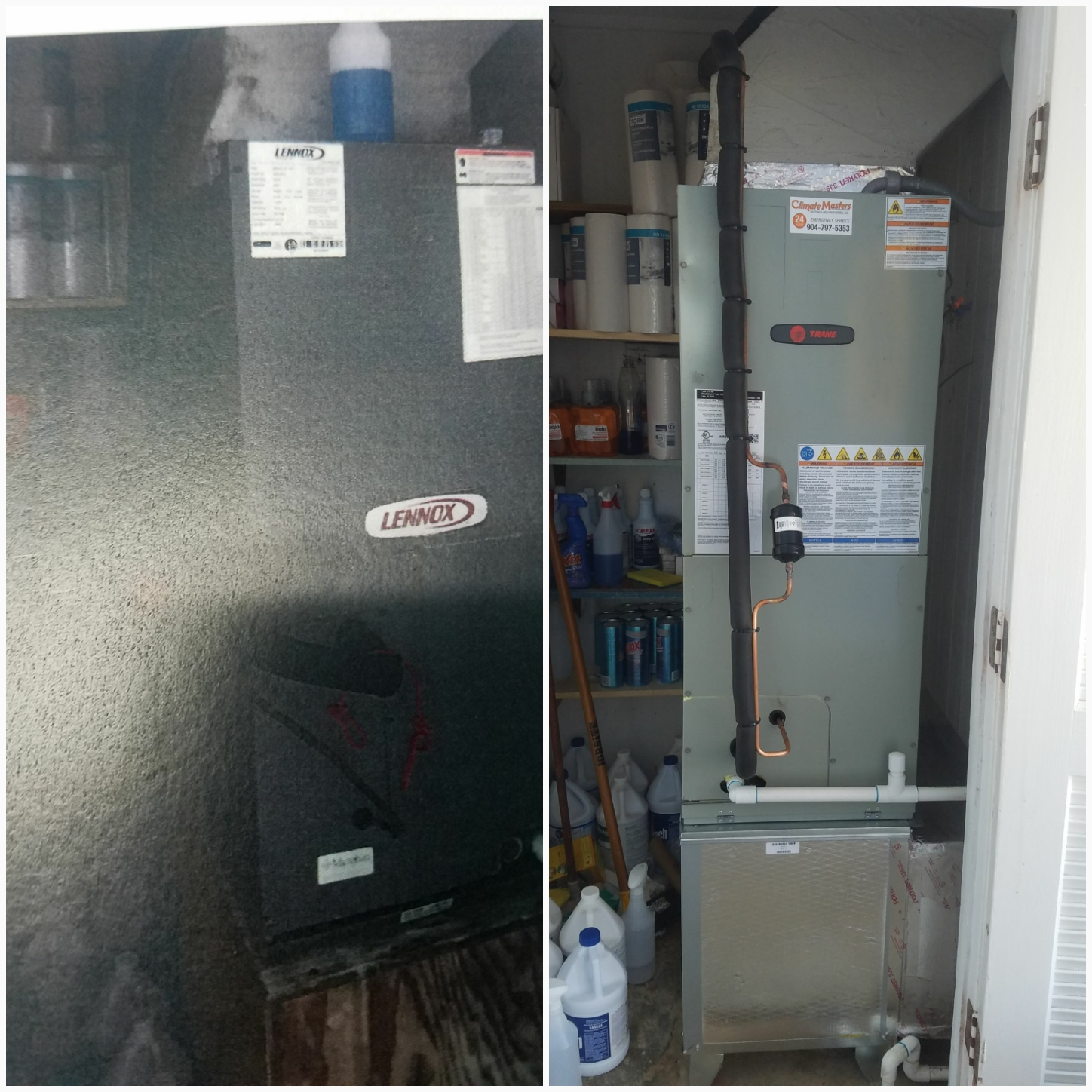 St. Augustine, FL - Changed out lennox unit for a trane unit