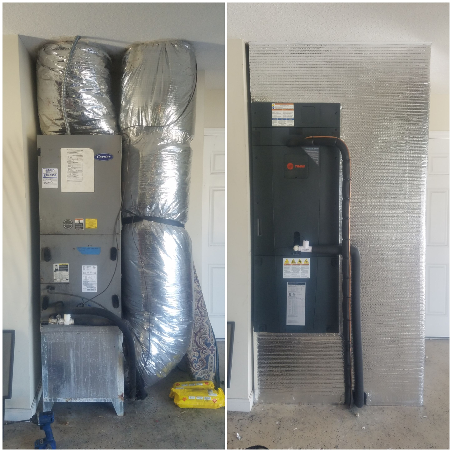 St. Augustine, FL - Took out a carrier and put in a trane and redone everything