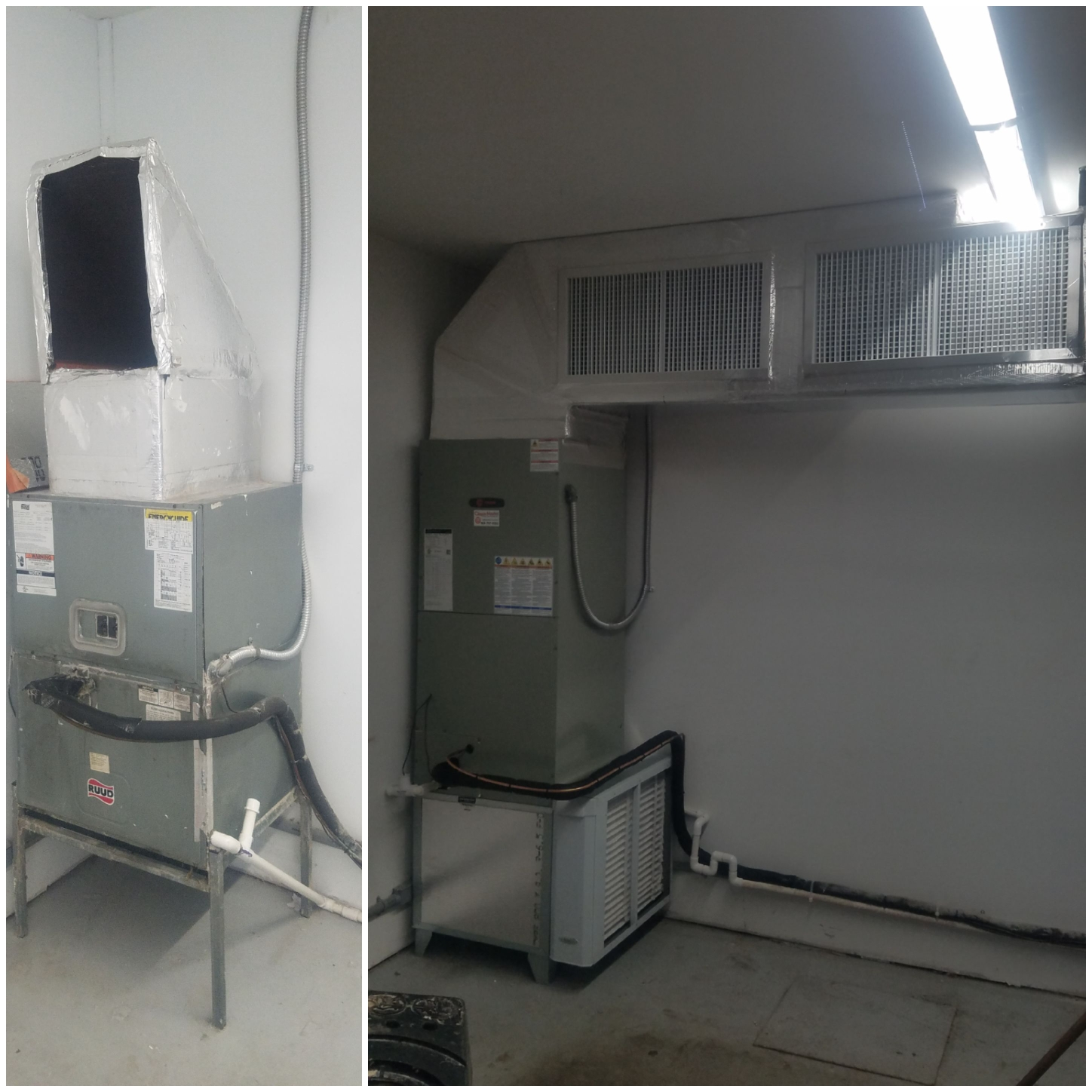 St. Augustine, FL - Put in new trane 5 ton unit with a little bit of duct work for better air flow