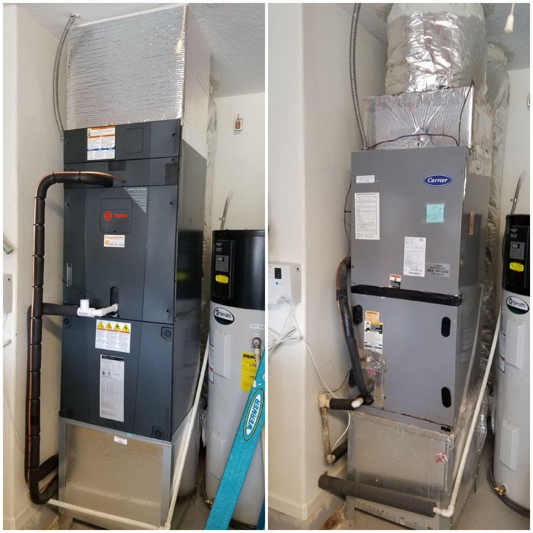 St. Augustine, FL - Replaced air handler in garage with new stand