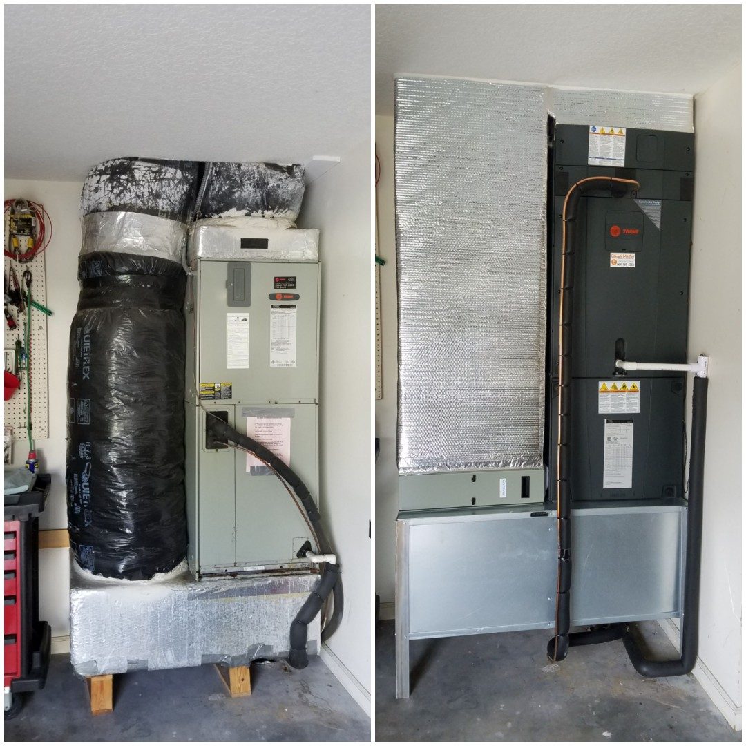 St. Augustine, FL - Replaced unit in garage with new ductwork and metal coffin box