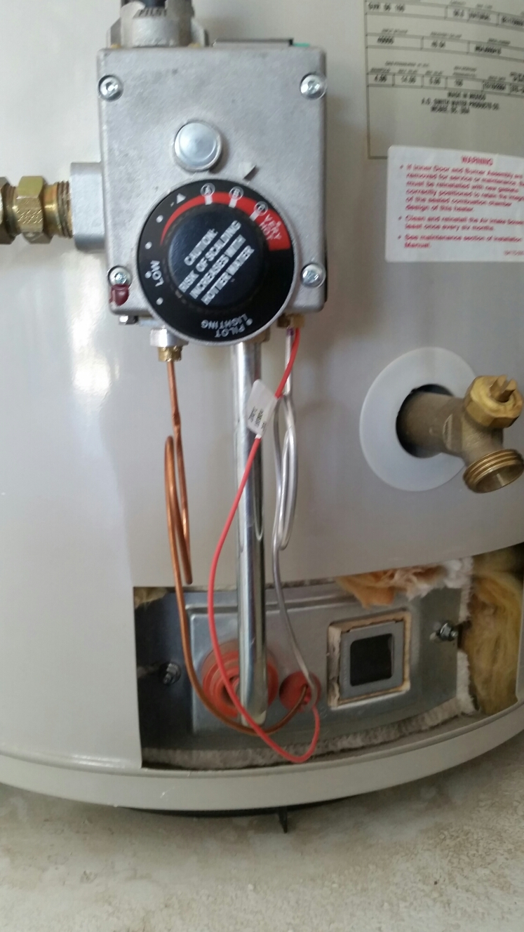 Sanger, CA - Replace water heater thermocouple pilot assembly kit