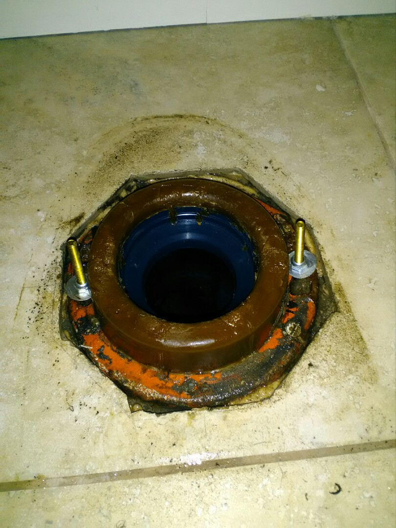 Clovis, CA - Replaced wax seal under toilet