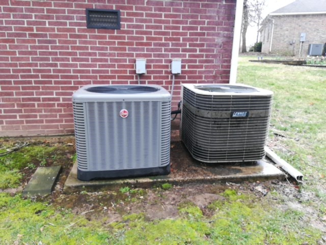 Rogers, AR - Doing preventative maintenance on to air conditioning systems.