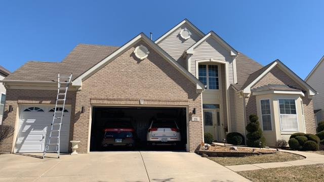 Bolingbrook, IL - Inspected this roof today found multiple areas of hail and wind damage. USAA insurance will be coming out for a full replacement of roof, gutters, fascia, window wraps, overhead doors. Call for your free digital roof analisys! 708-453-ROOF 7663
