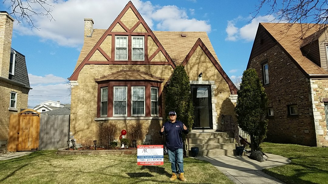 Franklin Park, IL - Homeowners are so happy that we got his roof approved.