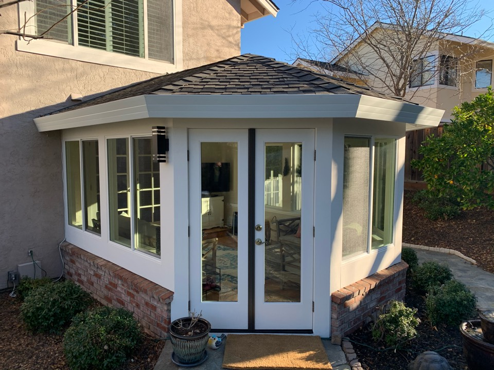 Pleasanton, CA - Final product of a beautiful sunroom built in Pleasanton!