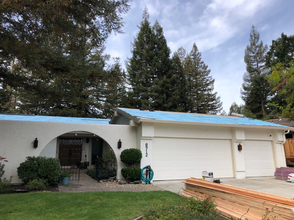 Martinez, CA - In progress picture of a new Boral metal roof. Can't wait to see how great this roof will look when it's completed.
