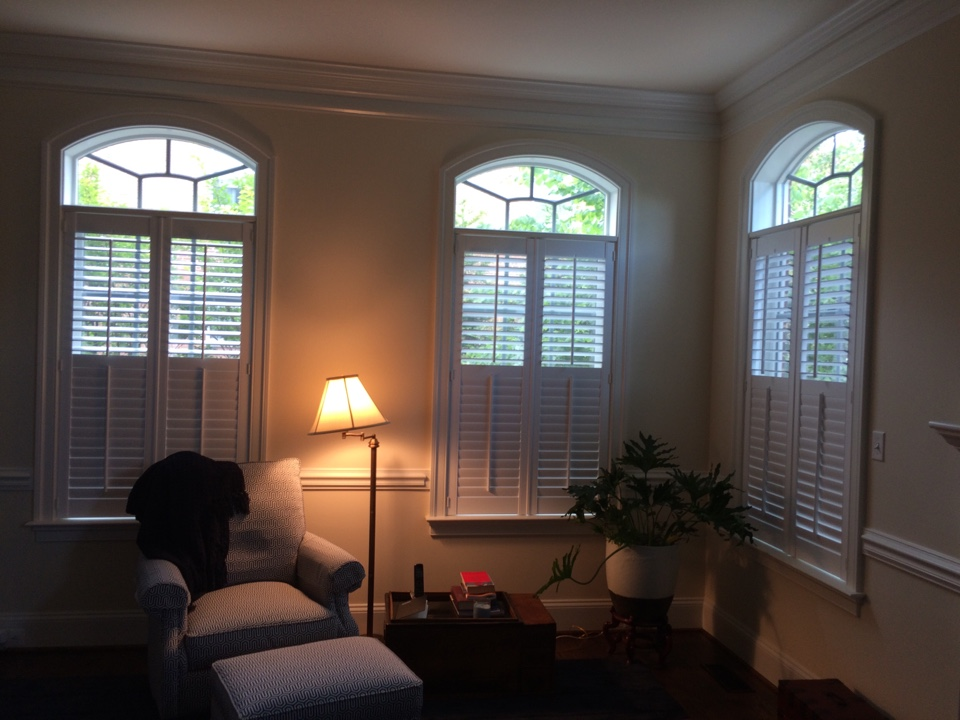Another Happy Customer With Their Beautiful New Plantation Shutters In Fairfax Va