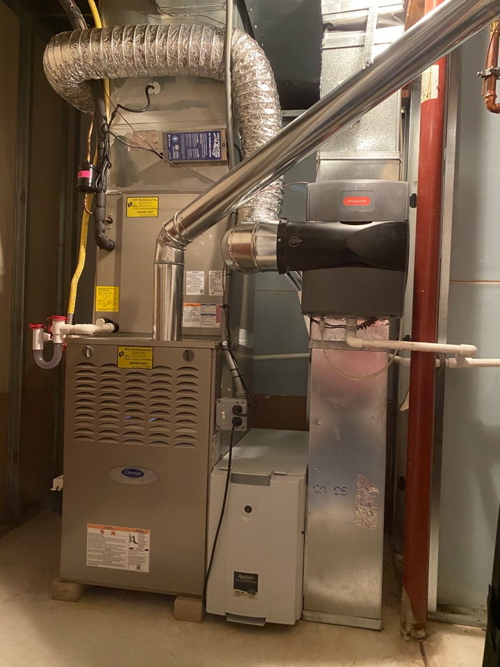 Mullica Hill, NJ - Re located Honeywell bypass humidifier