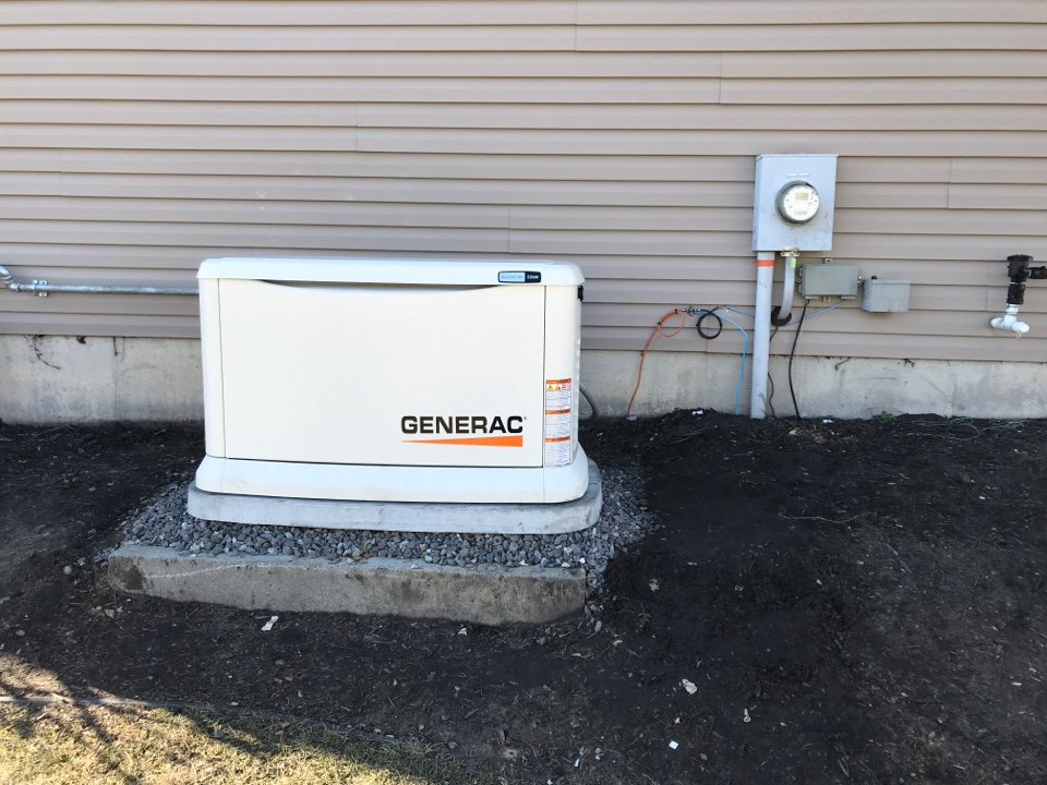 Mullica Hill, NJ - 22 kw generac generator and automatic transfer switch install