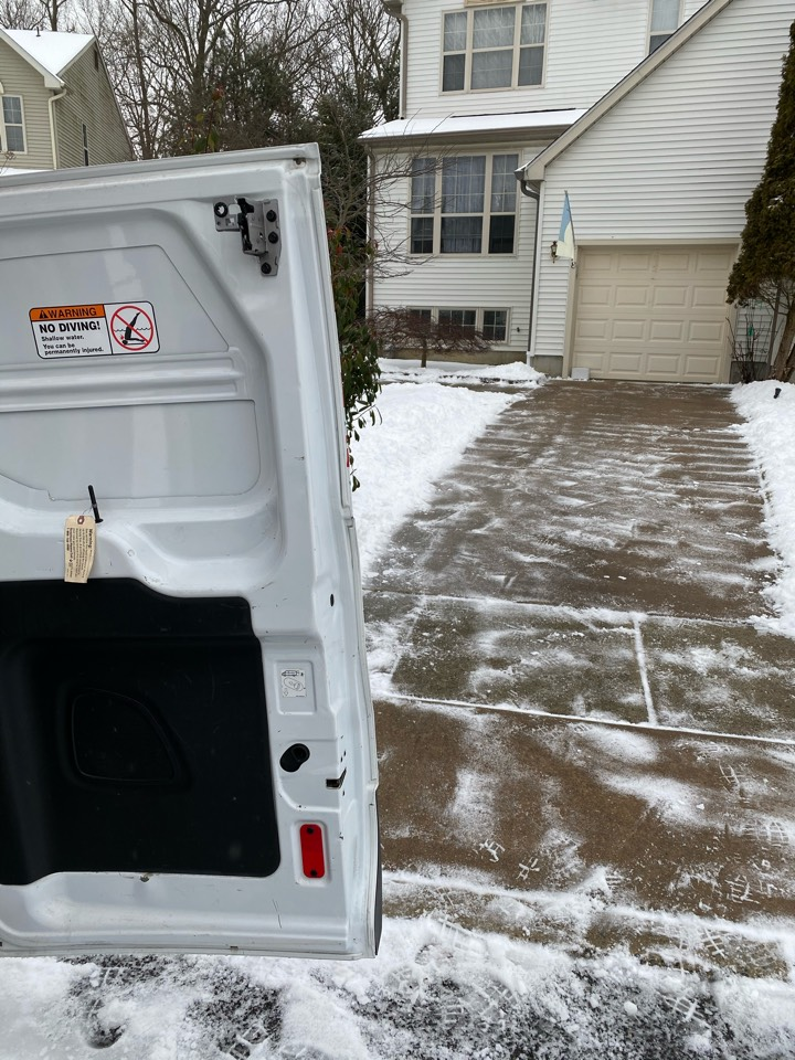 Mantua Township, NJ - Repair leak for RO filter, and while on site, cleared snow from driveway and steps