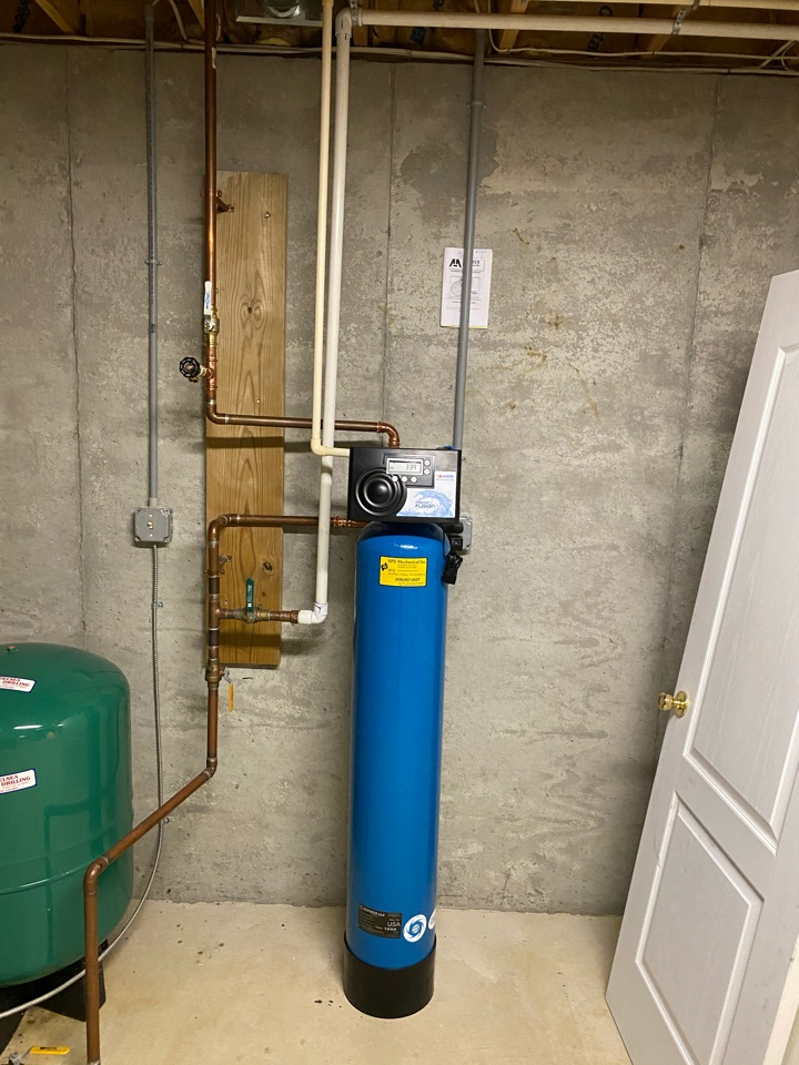 Installed AIO water treatment system Master Fusion tank with Greensand