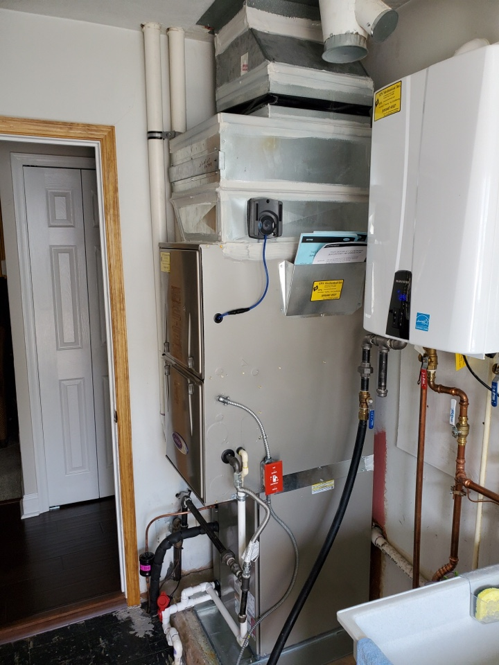 Woodbury, NJ - Installed a full High Efficiency Heating and Air Conditioning system